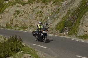 Huub is blij Stelvio Motorreizen