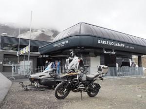 Eind Kaunertal Stelvio Motorreizen